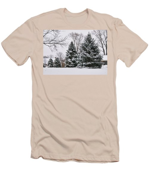Evergreens In The Snow Men's T-Shirt (Athletic Fit)