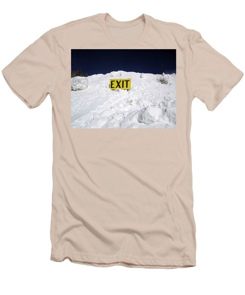 Exit Men's T-Shirt (Slim Fit) by Fiona Kennard