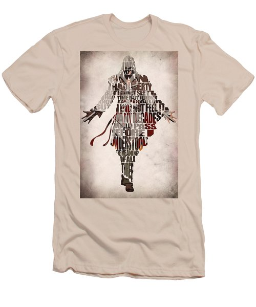 Ezio Auditore Da Firenze From Assassin's Creed 2  Men's T-Shirt (Athletic Fit)