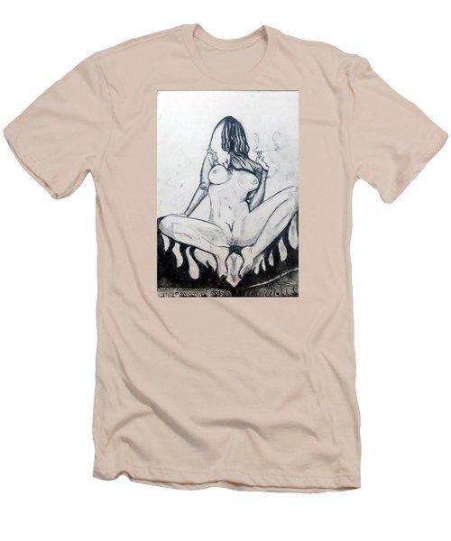 Men's T-Shirt (Slim Fit) featuring the drawing Fertility Fertilidad by Lazaro Hurtado