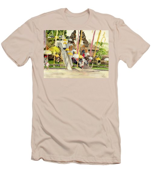 Festival Hindu Ceremony Men's T-Shirt (Slim Fit) by Melly Terpening