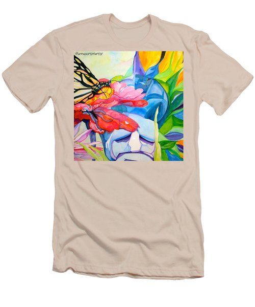 Fiji Dreams - Original Watercolor Painting Men's T-Shirt (Slim Fit) by Anna Porter