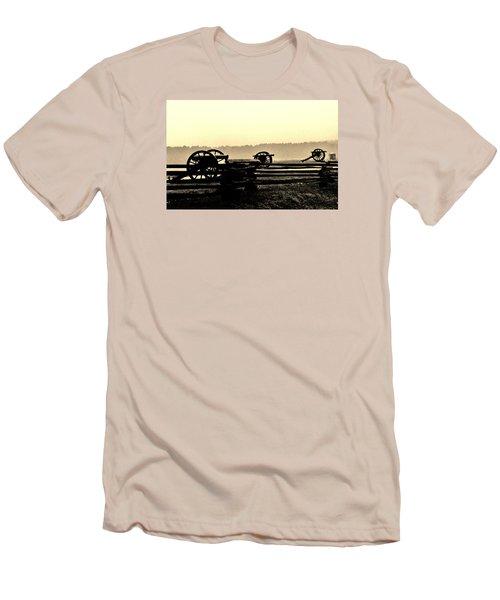 Firing Line Men's T-Shirt (Slim Fit) by Daniel Thompson