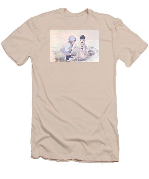First Snowman Men's T-Shirt (Athletic Fit)