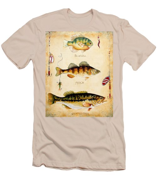 Fish Trio-c Men's T-Shirt (Slim Fit) by Jean Plout