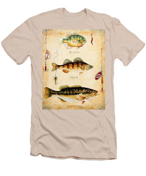 Fish Trio-c Men's T-Shirt (Athletic Fit)