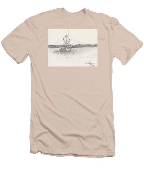 Fishing Boat Men's T-Shirt (Slim Fit) by David Jackson
