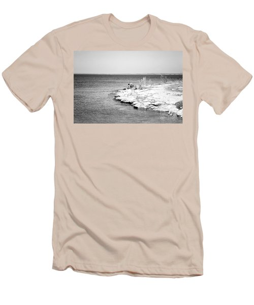 Men's T-Shirt (Slim Fit) featuring the photograph Fishing by Erika Weber