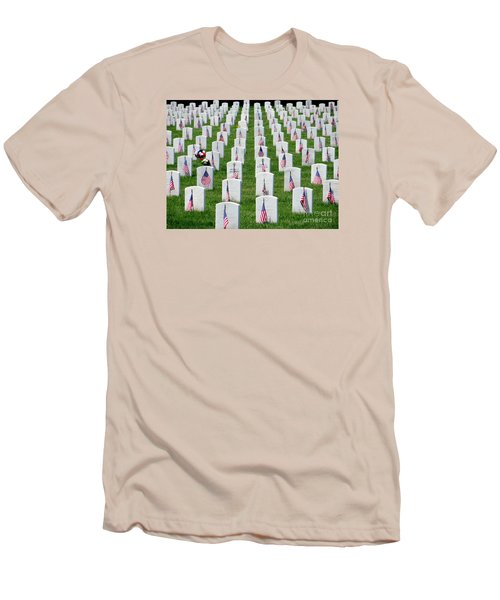 Men's T-Shirt (Slim Fit) featuring the photograph Flags Of Honor by Ed Weidman