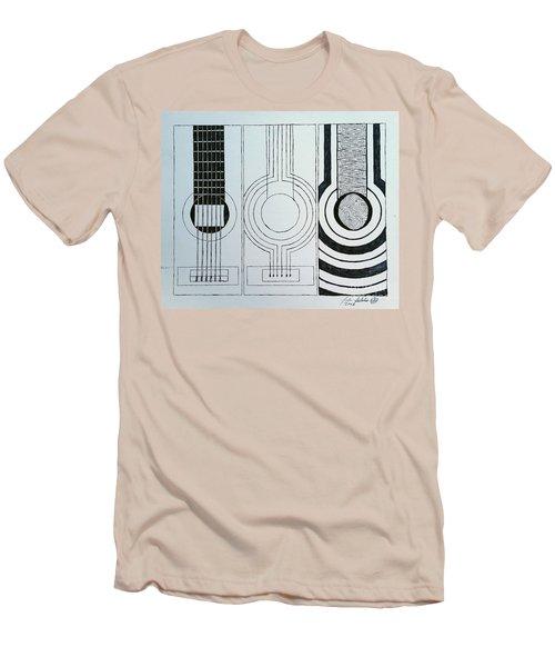Flamenco Guitar Men's T-Shirt (Slim Fit) by Luke Galutia