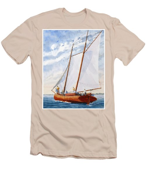 Florida Catboat At Sea Men's T-Shirt (Athletic Fit)