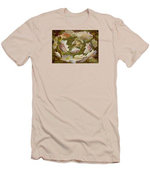 Men's T-Shirt (Slim Fit) featuring the photograph Flower Drift by Nareeta Martin