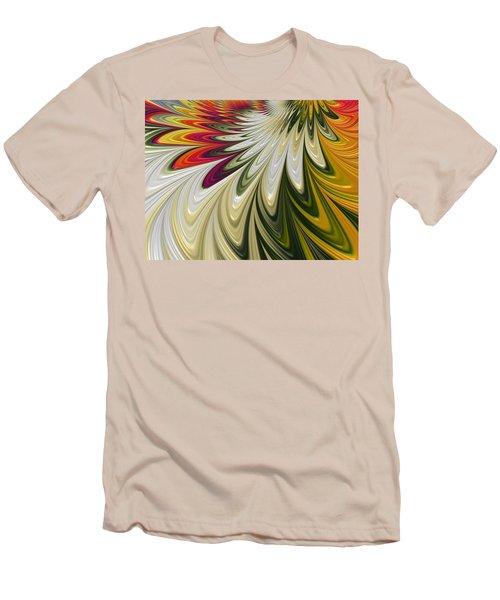 Men's T-Shirt (Slim Fit) featuring the digital art Flower Power by Gabriella Weninger - David