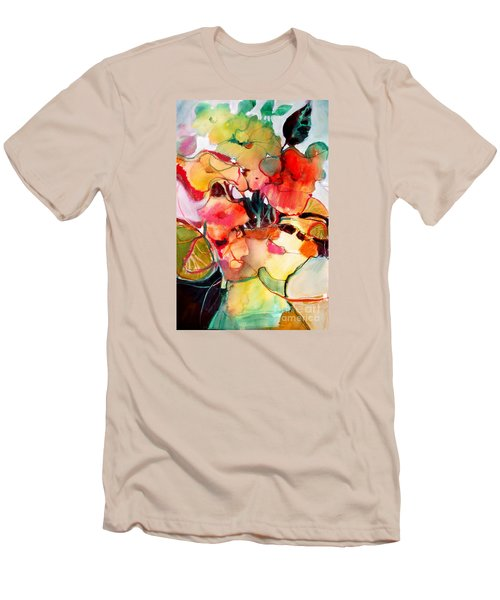 Men's T-Shirt (Slim Fit) featuring the painting Flower Vase No. 2 by Michelle Abrams
