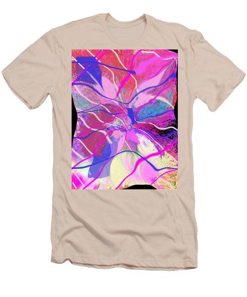 Original Contemporary Abstract Art Flowers From Heaven Men's T-Shirt (Slim Fit) by RjFxx at beautifullart com