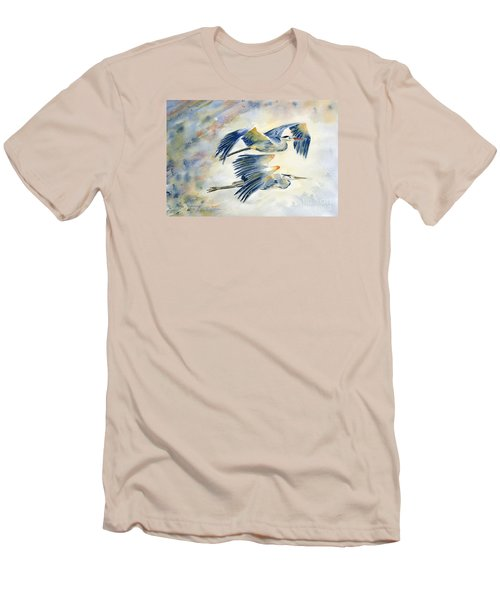 Flying Together Men's T-Shirt (Slim Fit) by Melly Terpening