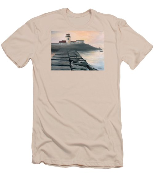 Fog Burning Off Men's T-Shirt (Athletic Fit)