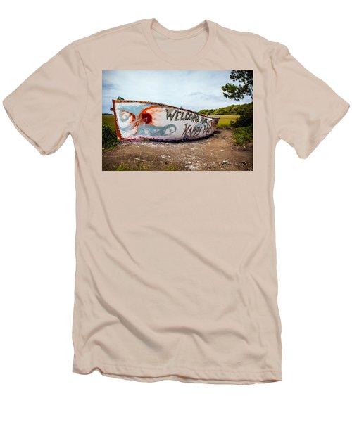 Men's T-Shirt (Slim Fit) featuring the photograph Folly Boat by Sennie Pierson