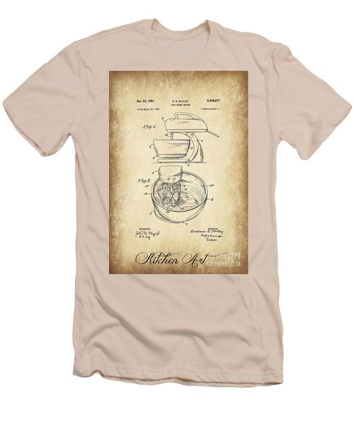 Food Mixer Patent Kitchen Art Men's T-Shirt (Slim Fit) by Clare Bevan