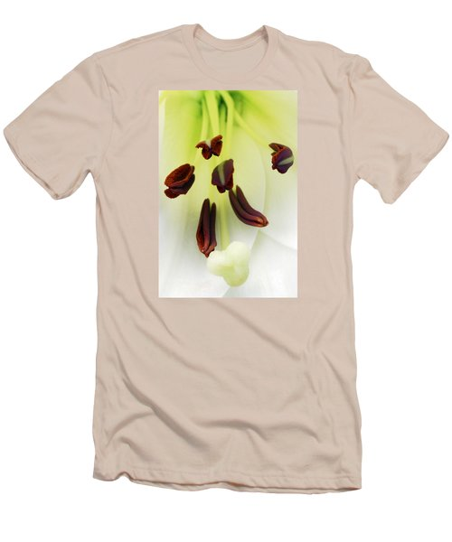 Men's T-Shirt (Slim Fit) featuring the photograph For The Love Of Lilies 1 by Wendy Wilton