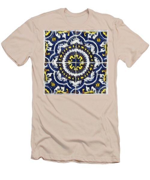 Four Painted Tiles-mexico Men's T-Shirt (Slim Fit) by Michael Flood