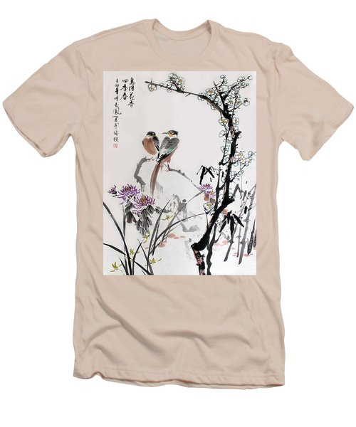 Men's T-Shirt (Slim Fit) featuring the photograph Four Seasons In Harmony by Yufeng Wang