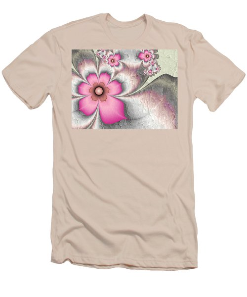 Fractal Nostalgic Flowers 2 Men's T-Shirt (Slim Fit) by Gabiw Art