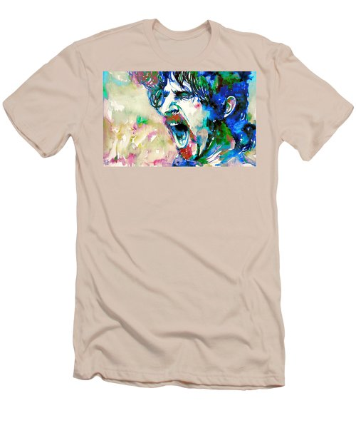 Frank Zappa  Portrait.4 Men's T-Shirt (Athletic Fit)