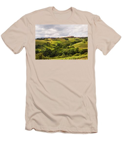 Men's T-Shirt (Slim Fit) featuring the photograph French Countryside by Allen Sheffield