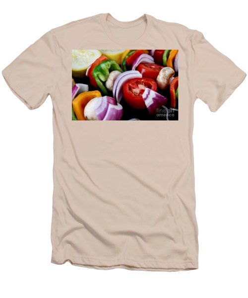 Fresh Veggie Kabobs On The Grill Men's T-Shirt (Athletic Fit)