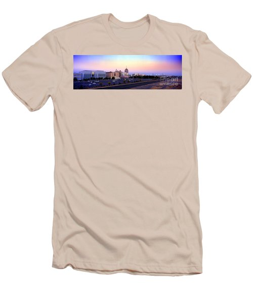 Fresno Skyline Into The Evening Men's T-Shirt (Athletic Fit)