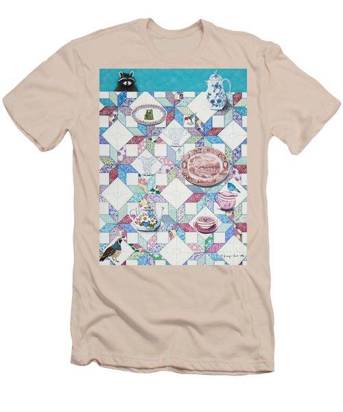 Friends Come To Tea Men's T-Shirt (Slim Fit)