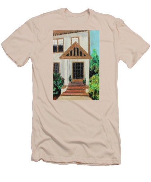 Men's T-Shirt (Slim Fit) featuring the painting Front Door 1 by Jeanne Fischer