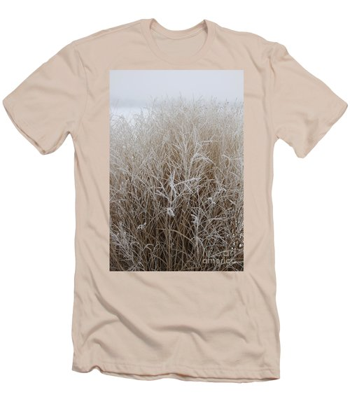 Frozen Grass Men's T-Shirt (Slim Fit) by Debbie Hart