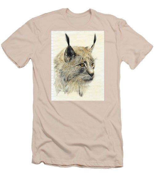Gazing Lynx Men's T-Shirt (Slim Fit) by Phyllis Howard