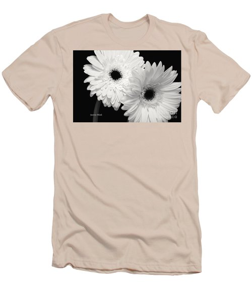 Men's T-Shirt (Slim Fit) featuring the photograph Gerbera Daisy Sisters by Jeannie Rhode