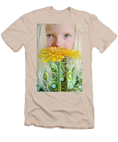Gerbera Girl Men's T-Shirt (Athletic Fit)