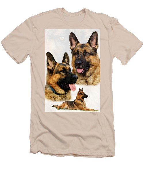 German Shepherd Collage Men's T-Shirt (Athletic Fit)