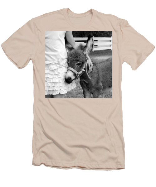 Girl And Baby Donkey Men's T-Shirt (Slim Fit) by Brooke T Ryan