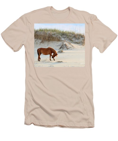 Giving Thanks Men's T-Shirt (Slim Fit) by Debbie Green