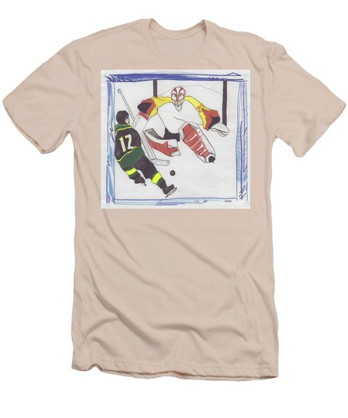 Men's T-Shirt (Slim Fit) featuring the drawing Shut Out By Jrr by First Star Art