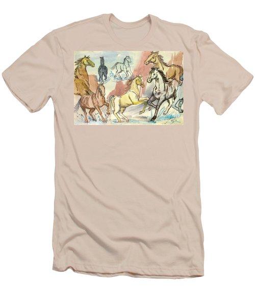 Golden Mare Men's T-Shirt (Athletic Fit)