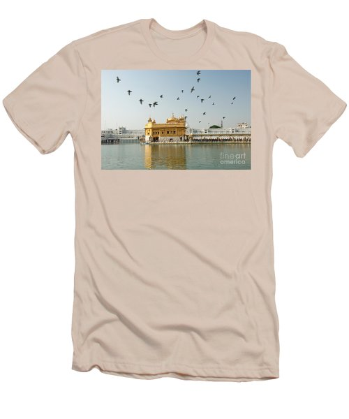 Golden Temple In Amritsar Men's T-Shirt (Athletic Fit)