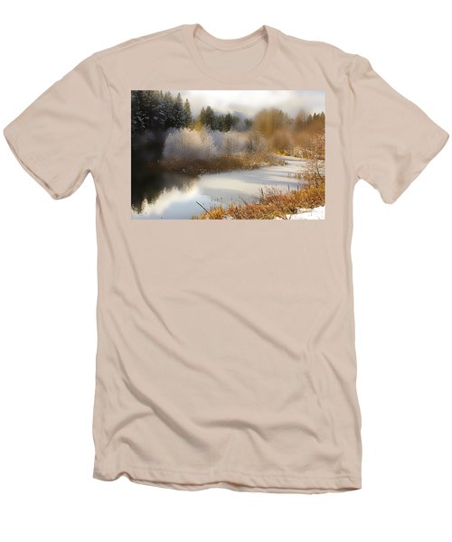 Men's T-Shirt (Slim Fit) featuring the photograph Golden Winter by Sonya Lang