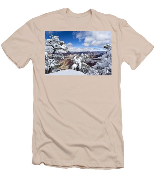 Grand Canyon Winter - 1 Men's T-Shirt (Athletic Fit)