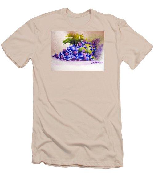 Grapes Men's T-Shirt (Slim Fit) by Chrisann Ellis