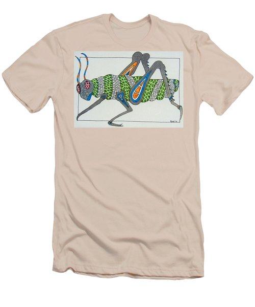 Grass Hopper I Men's T-Shirt (Slim Fit) by Kruti Shah