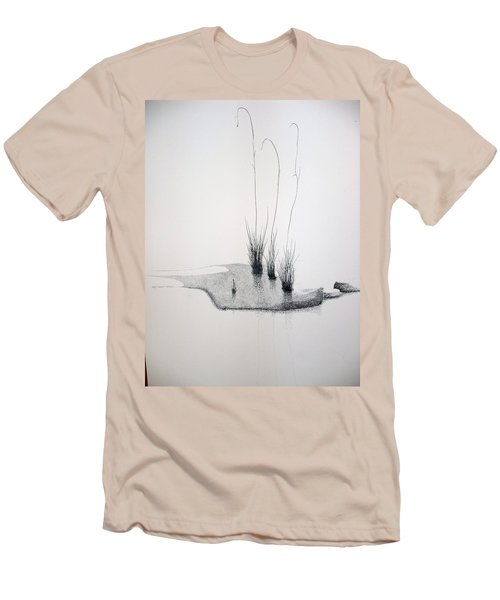 Men's T-Shirt (Slim Fit) featuring the painting Greek Chorus by A  Robert Malcom