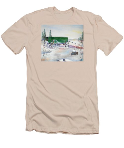 Green Wagon Men's T-Shirt (Athletic Fit)