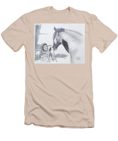 Greeting At The Monument Men's T-Shirt (Athletic Fit)